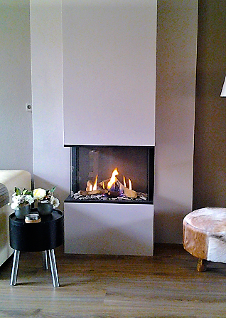 Foyer à gaz 3 vitres Global Fire