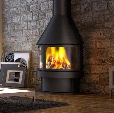 cheminee acier aitana 180° de rocal