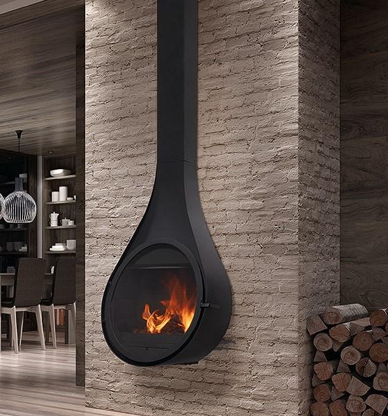 cheminée acier Drop Rocal suspendue