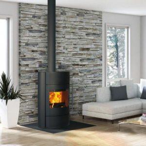 Poêle à bois Fonte flamme Fifti avec accumulation