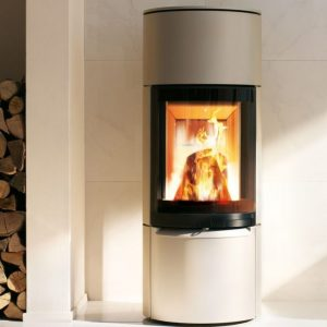 poêle a bois ambiente a3 de spartherm avec accumulation de chaleur
