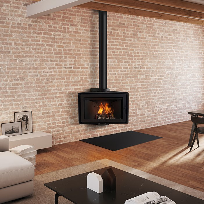 Angle , cheminée acier de Rocal option rotative